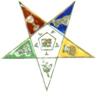 Pentagram - Image: Order Eastern Star logo from saucer