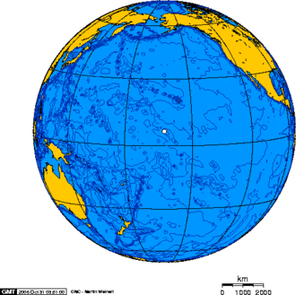 Kingman Reef - Orthographic projection over Kingman Reef