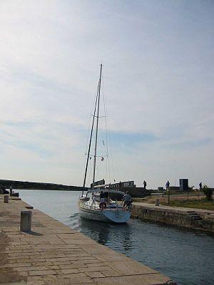 Osor, Croatia - Osor channel between the islands Lošinj and Cres, Croatia