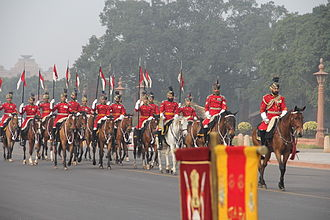 Delhi Republic Day parade - President's Body Guards in their winter ceremonial dress