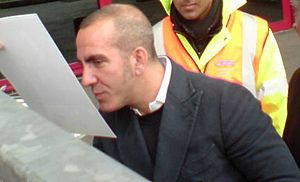 English: Paolo Di Canio signing autographs for...