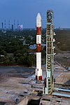 PSLV-C42 on the First Launch Pad with the second launch pad in the background.jpg