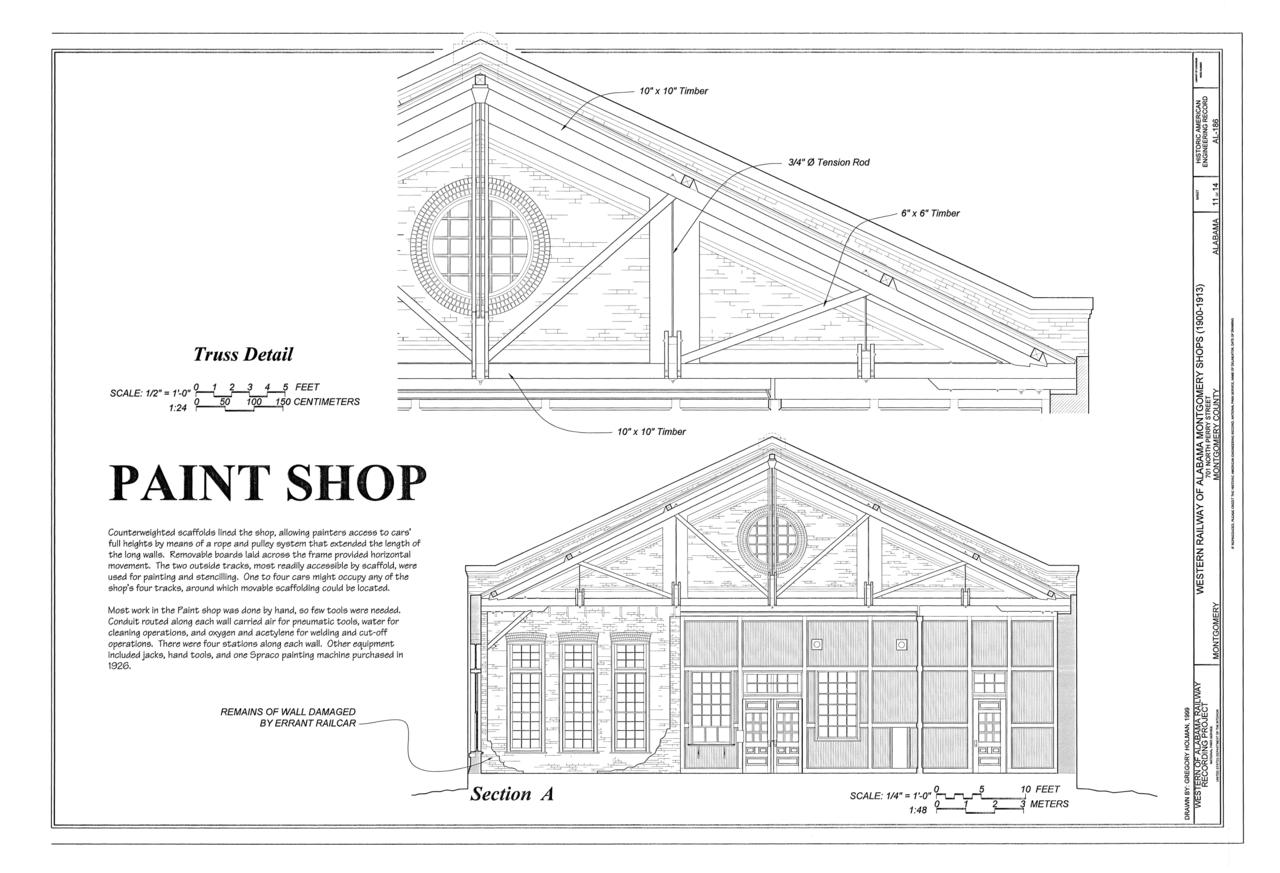 File Paint Shop Truss Detail Section Western Railway