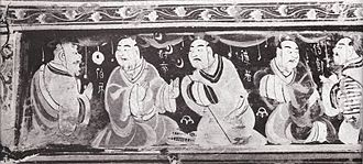 Society and culture of the Han dynasty - Paragons of filial piety painted on a lacquered basketwork box that was excavated from an Eastern Han tomb in what was the Chinese Lelang Commandery (in modern North Korea).