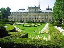 Front view of the Palacio Real de la Granja de San Ildefonso.