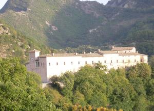 vista del palazzo Brancaleoni, Piobbico (PU)
