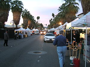 A market held in downtown Palm Springs every T...