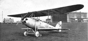 Pander E - First prototype with Anzani engine