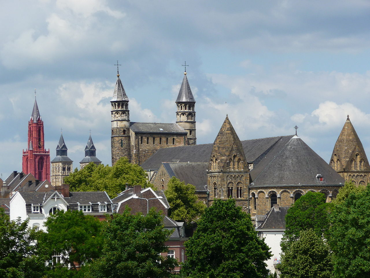 Panoramisch uitzicht over Maastricht