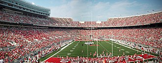 Ohio Stadium - Panoramic view.