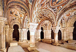 The painted crypt at Léon, Spain.
