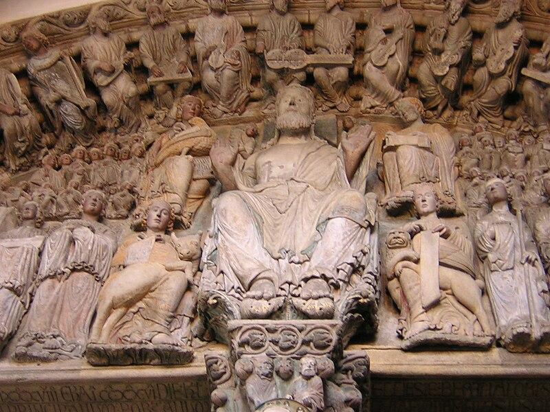 Archivo:Pantocrator del pórtico de la Gloria en Santiago de Compostela.jpg