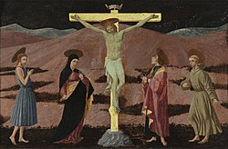 Paolo Uccello: Crucifixion of Christ with saints