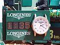 Paris-FR-75-open de tennis-25-5-16-Roland Garros-la pendule à Longines du Court Lenglen-02.jpg