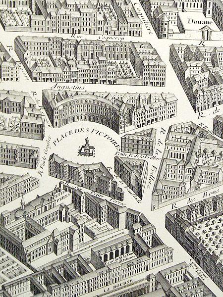 File paris michel tienne turgot 1751 quartier des victoires wikimedia commons - Place des victoires metro ...