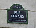 Paris 13e - rue Gérard - plaque.jpg
