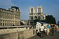 Paris 75005 Quai Saint-Michel towards Notre-Dame Bouquinistes 1967.jpg