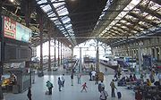 The trainshed at Paris Gare de Lyon.
