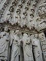 Paris Notre-Dame cathedral Portail de la Vierge jamb statues left 2005-07-18.jpg