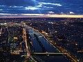 Paris View from the Eiffel Tower third floor Seine downstream twilight.jpg