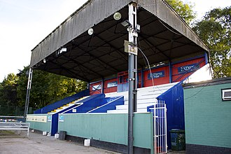 Cheadle Town F.C. - Image: Park Road Main Stand 2013