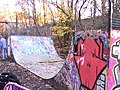 Parkland Walk - Skateboarders halfpipe near Crouh Hill Bridge - geograph.org.uk - 1621838.jpg