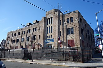 Queens Gateway to Health Sciences Secondary School - The Jamaica Jewish Center (pictured) was used by Queens Gateway from 1998 to 2010; the building is now used by The Young Women's Leadership School of Queens.
