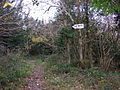 Path and sign, West Coppice - geograph.org.uk - 1591122.jpg