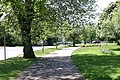 Path located next to a Clock Tower - geograph.org.uk - 2389800.jpg