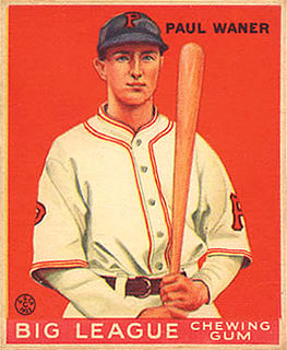 Paul Waner American baseball player