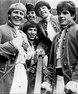 Paul Revere & the Raiders - The band in 1967. Front L–R: Paul Revere, Mike Smith. Center L–R: Jim Valley, Mark Lindsay. Back: Phil Volk