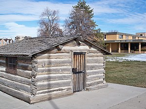 Payson, Utah - A historic cabin at Payson City Center
