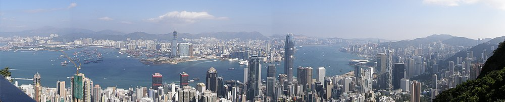 Hong Kong Victoria Harbour view from Victoria Peak