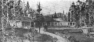 Pebble Beach, California - The original Pebble Beach Lodge, burned in 1917