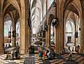 Peeter NEEFFS THE Elder - A church interior with elegant figures strolling and figures attending mass - Google Art Project.jpg