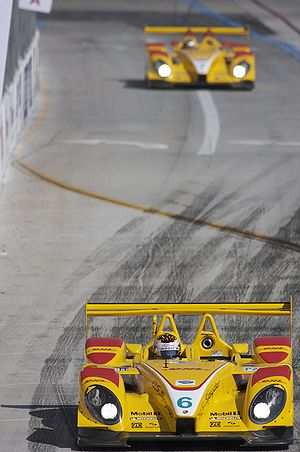 Porsche RS Spyder - Two Penske RS Spyders at the 2008 Long Beach ALMS race