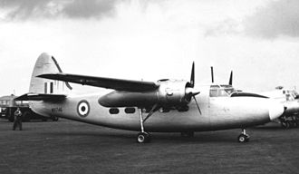 Percival Pembroke - Percival Pembroke C.1 of Bomber Command Communications Squadron at Blackbushe Airport Hampshire in September 1956.