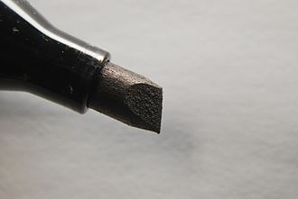 "Permanent marker - The ""chisel tip"" of a marker"