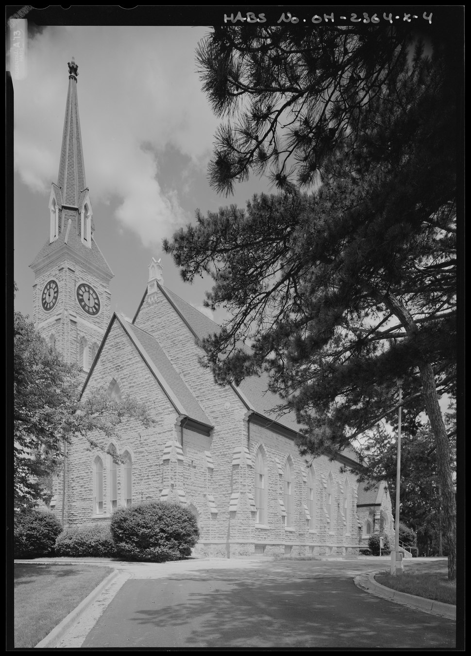 Perspective view from west - National Home for Disabled Volunteer Soldiers, Central Branch, Protestant Chapel, 4100 West Third Street, Dayton, Montgomery County, OH HABS OH-2364-X-4