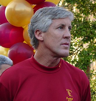 USC Trojans football - Pete Carroll at the USC 2004 National Championship award rally