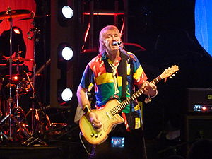Pete Overend Watts - Overend Watts performing with Mott the Hoople, reunion gig, Hammersmith Apollo, October 2009