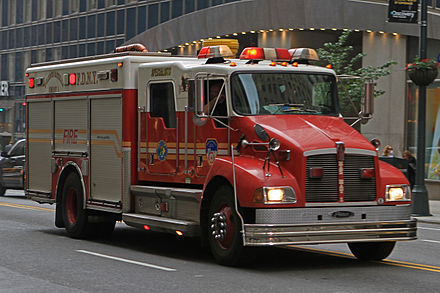 Haz-Mat. Company 1's second piece of apparatus, which carries additional equipment and responds to all calls with the main apparatus. Peter Stehlik - FDNY HazMat 1A - 2012.05.23.jpg