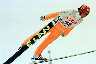 Primož Peterka - Peterka at Holmenkollen in 1998