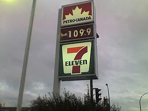 Petro-Canada - A Petro-Canada Price Tower in Vancouver.