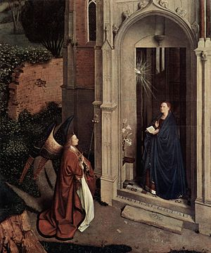 Petrus Christus - The Annunciation, c. 1450, Metropolitan Museum of Art