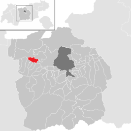Ligging van Pettnau in het district Innsbruck Land