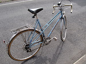 Step-through frame - A Peugeot mixte frame bicycle