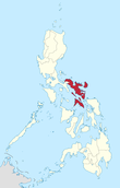 Map of the Philippines highlighting the Bicol Region