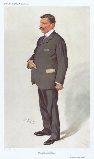 Philip Watts (naval architect) - Philip Watts caricatured by Spy in Vanity Fair, 1910