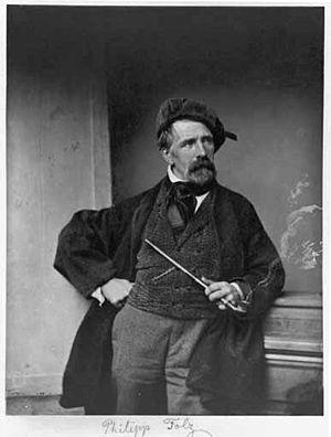 Philipp Foltz - Philipp Foltz; photograph by Franz Hanfstaengl